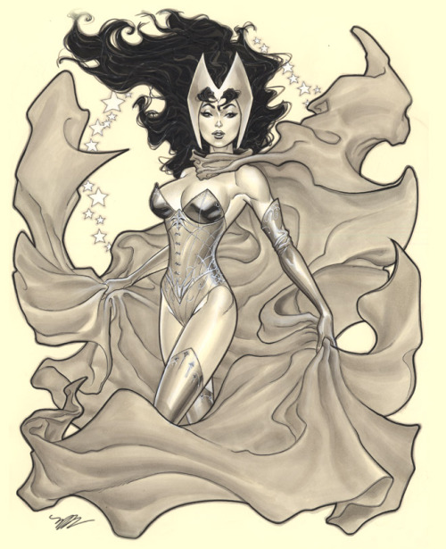 Scarlet Witch for Heroes Auction by Michael Dooney