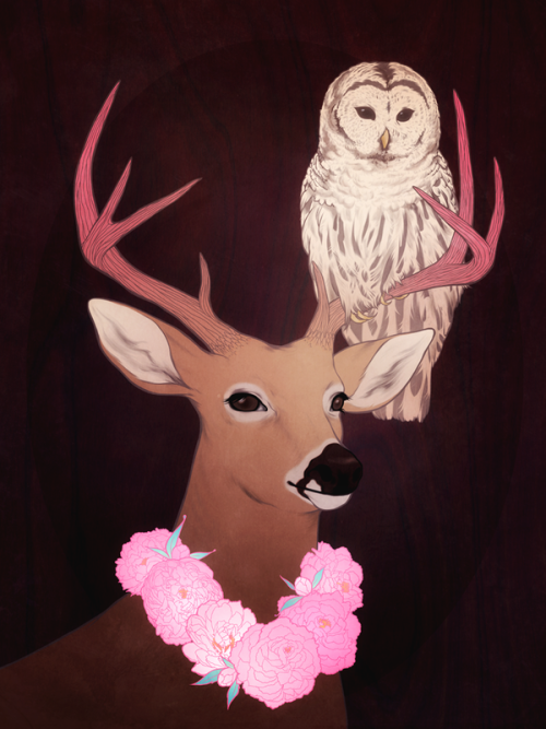 alsodeer:  Fur, feathers, and peonies. by *jenmundy BEST