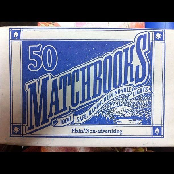 #matchbook design found at my local 99 cent store (Taken with Instagram)