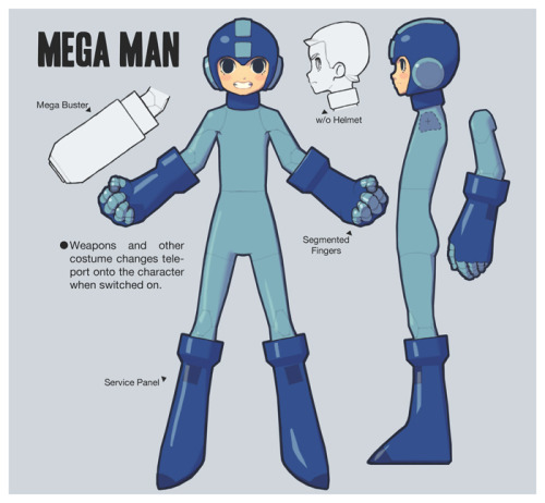 it8bit:  Mega Man Design Illustration by Marty Seefeldt