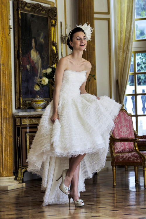 """Swan Lake""Ian Stuart, Revolution Rocks! Collection  the best part about high-low hem: the shoes share the spotlight with the dress!"