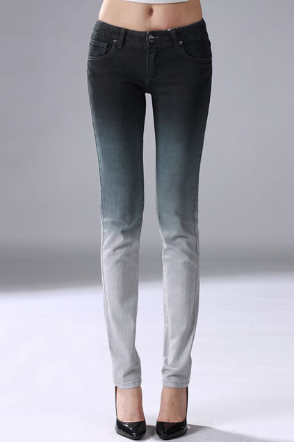 what-do-i-wear:  Gradient Grey Skinny Jeans available from romwe