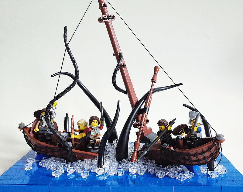 archiemcphee:  We love this awesome Lego squid attack by Sam Malmberg aka Groovybones. [via Super Punch]  Dammit…I've really been missing out by not playing with Legos all these years.