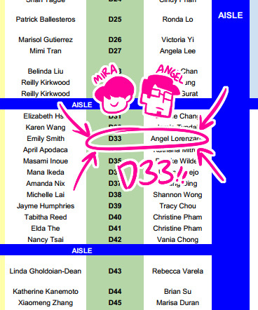 miraongchua:  hey so me and my buddy angel will be at table D33 for anime expo!! come say hey!  you heard the lil' lady, we'll see you there!