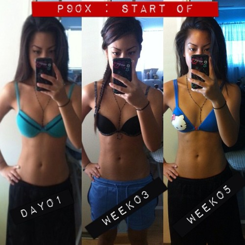 heatherfrias:  So far, my results of #P90X. (Taken with Instagram)