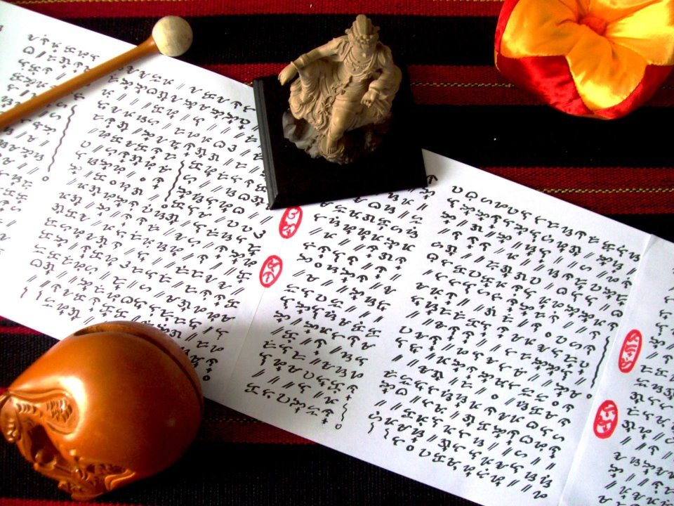 pointandshooter:  HEART SUTRA VIGNETTE (2012), calligraphy and photography by J.A. Austria. Tried my hand in Chinese sutra calligraphy and I thought why not do it instead in the baybayin Tagalog script which is the indigenous system of writing in the Philippines. It feels good to practice Asian-style calligraphy—especially if one is using a native script: it makes one more connected with his/ her roots for some reason.
