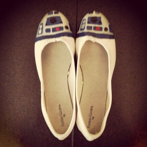 I made some R2 D2 shoes for #SDCC. #StarWars (Taken with Instagram)