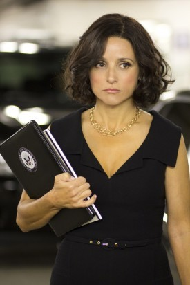 "Comedy queen Julia Louis-Dreyfus talks to Deadline.com's Awards Columnist Pete Hammond about playing the ""Veep"": ""It's a really divine area for comedy. And it's been untapped."" Louis-Dreyfus has hit a home run with the HBO show, vaulting her into conversations of potential Emmy nominees yet again. Read more of the story at Deadline to hear what she thinks about creating a non-partisan yet very political show for the artistic heaven that is HBO."