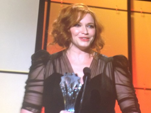 via @JennaBusch: Supporting Actress in a Drama Series: ‪#ChristinaHendricks‬ ‪#MadMen‬! ‪#CCTA  Congratulations to Christina for winning her second consecutive Critics Choice Award!