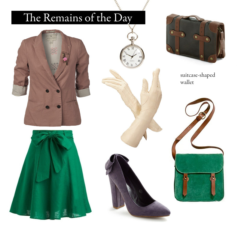 "Outfit inspired by Kazuo Ishiguro's The Remains of the Day. ""What is pertinent is the calmness of that beauty, its sense of restraint.""  Jacket, Rose Double Breasted Boyfriend Blazer 