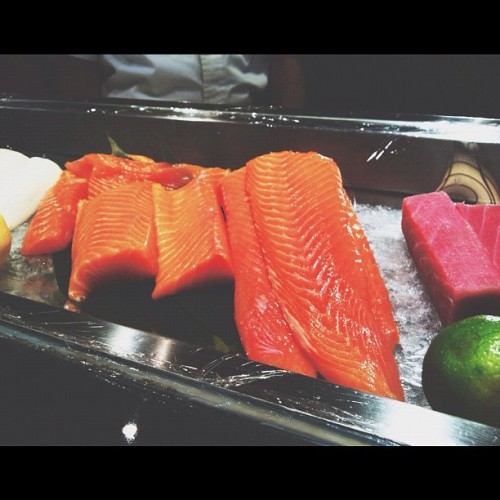 sorrowswallows:  Big chunks of #salmon #fish #japanese #food (Taken with Instagram)