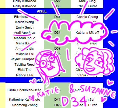 me and suzanne will be at ANIME EXPO this year at table D34!!!! please come visit us…  please………………