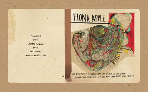 "bionicjen77:  Fiona Apple's ""The Idler Wheel"" Deluxe Album Artwork Itunes Digital.  Part 1"