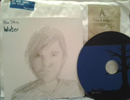 Happiness Is A New Album  Winter album and art work by the talented musician Dave of Blue Skies. (Blueskiesfm, Scratch That Records)  Get your own unique drawing by purchasing the Winter album.  I will have giveaways of this album in July…more details soon. In the meantime check out his YouTube channel. Thanks :)