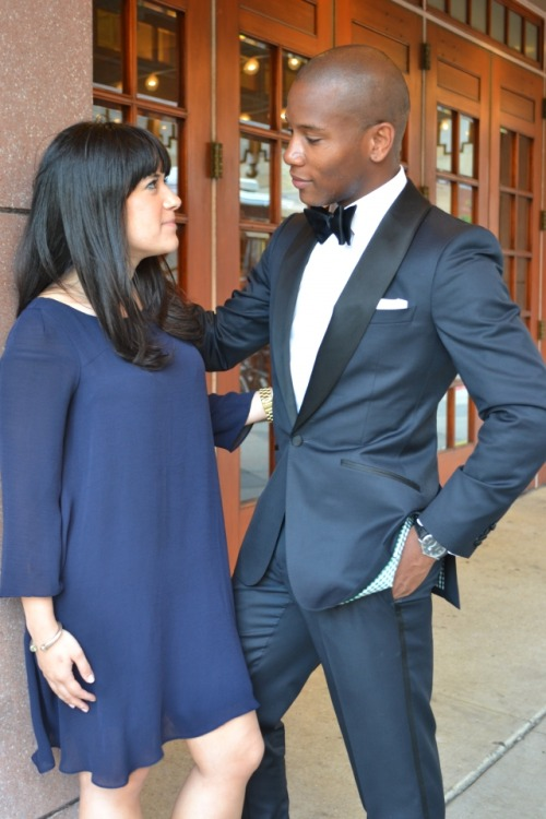 (via The Custom Tuxedo by Enzo Custom Clothiers) (Sabir M. Peele) Custom Midnight Blue Tuxedo by Enzo Custom Clothiers (Philly)