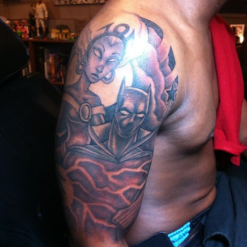 miyabailey:  #storm #blackpanther #marvel #comics #xmen #avengers #tattoo #cityofink #miyabailey (Taken with Instagram)