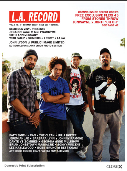 New Issue of LA Record featuring Hip-Hop legends The Pharcyde. Photography by Askew II