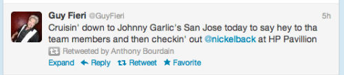 "cherrispryteaintsobrite:  I love that Bourdain retweeted this, because it's so clearly a ""would you look at this asshole!"" retweet."