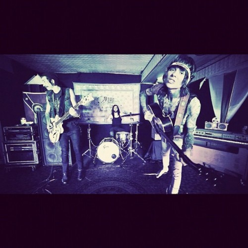 "still shot from the last NSN video shoot for our new single ""I'm Sorry""."
