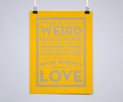 visualgraphic:  Weird Love