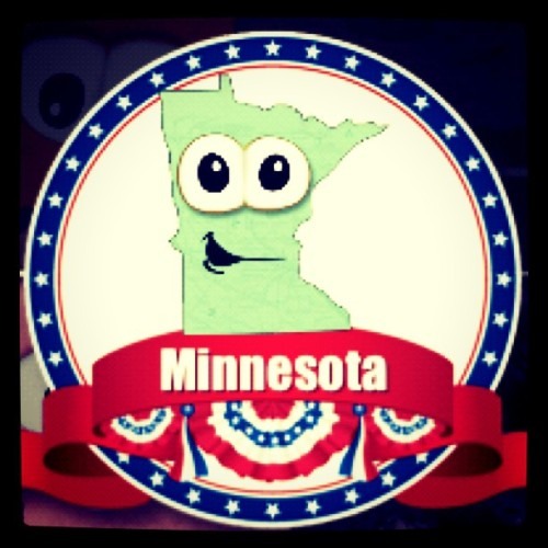 Don't mind me, just playing with apps aimed at kids. I love Minnesota. :) (Taken with Instagram)