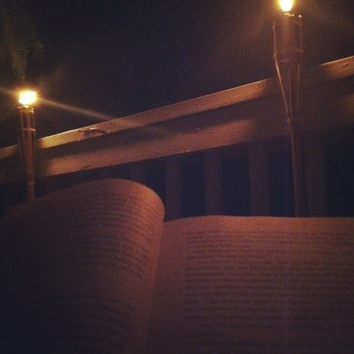 Reading out on the balcony is one of most relaxing things ever. (Taken with Instagram at The Shatt Pad)