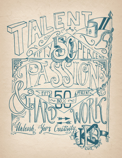 visualgraphic:  Talent is