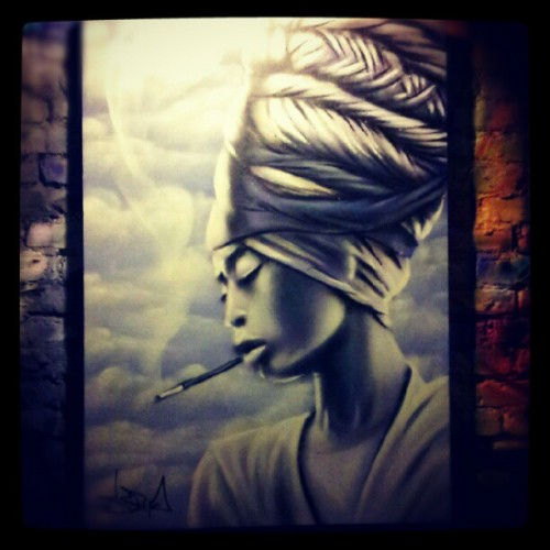 #spraypaint #souplaws #badu #erykahbadu #aerosol  (Taken with Instagram)