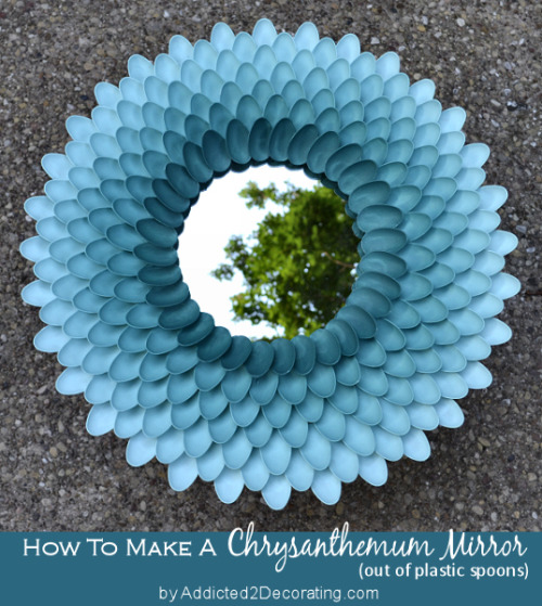 get-crafty:  DIY Chrysanthemum Mirror