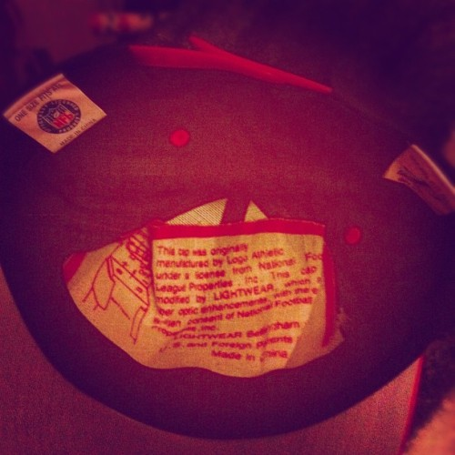 oddo-dubstep:  #logo #athletic #atlanta #snapback  (Taken with Instagram)