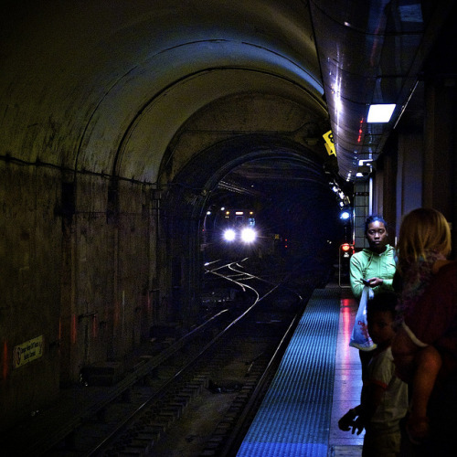 Red line. White light. Blue glare. by NicoleYeary on Flickr.