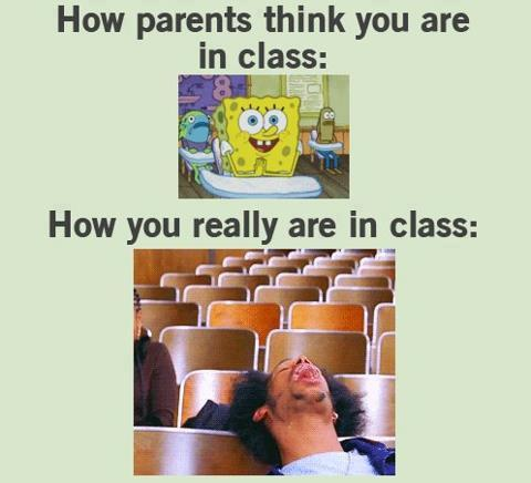 How parents think you are in class…
