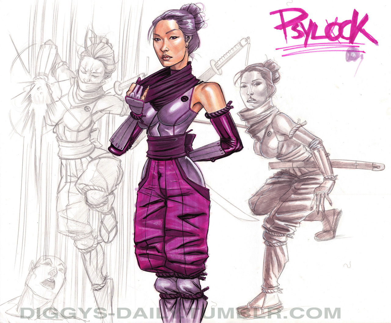 SKETCH OF THE DAY: PSYLOCKE REDESIGN 2009