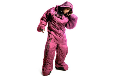 (via MusucBag - Pink Sleeping Bag Suit)