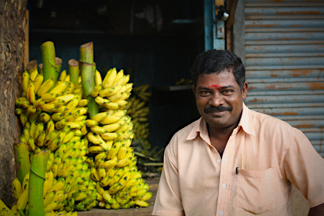 Banana Seller, Bangalore City Market.