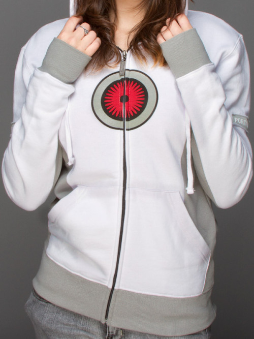 mahlibombing:  Portal 2 Merch: Aperture Test Subject Jacket from Jinx Turret Hoodie from Jinx  :( I want the Aperture one, but I already have too many jackets…