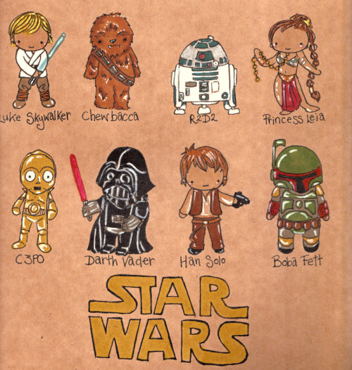Star Wars Chibis by jucylucyinspired