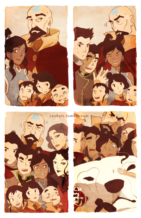 wheretheavatarboysat:  Group Portrait by hakuku  The amount of perfect in this image is overwhelming <3 but wait where's pema