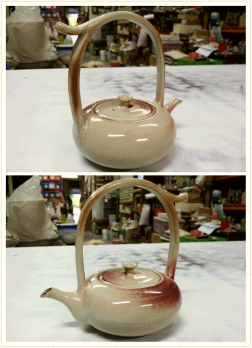 choukeirin:  Out of kiln yesterday. Came out pretty nice.. and it's pink!