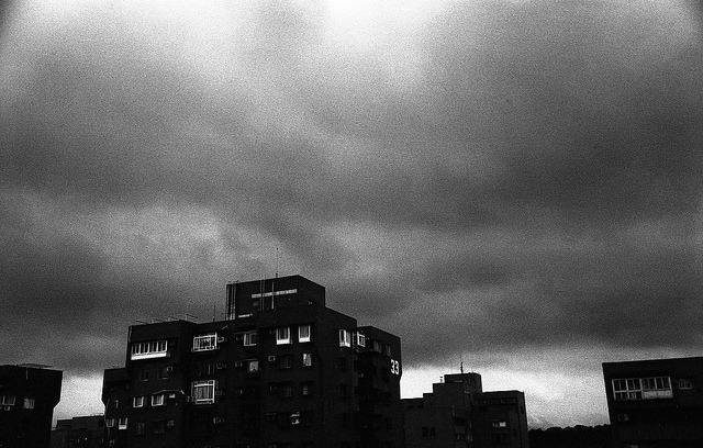 Typhoon is coming : ( on Flickr.Zorki 4 Jupiter 8, Kodak Tmax400@1600
