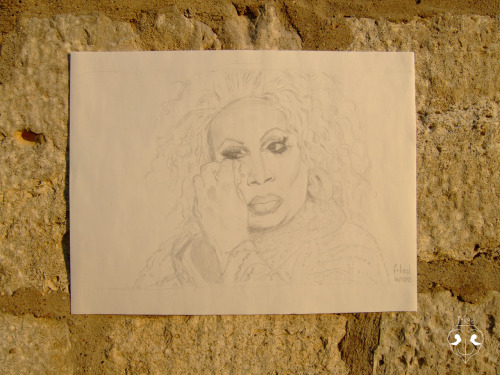 The Crying Light: Latrice Royale, Pencil on Paper