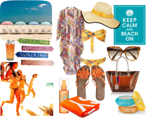 beachwear by nigulka featuring a straw hat