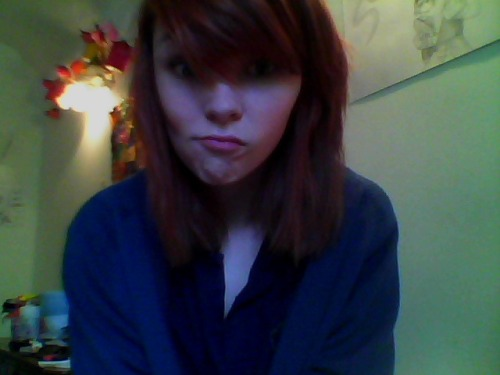 I think we can safely say I need to dye my hair red again. I'm so ginger, especially in the sun.  I have my last exam today (it's maths), so I thought I'd take a picture of myself looking like a crazy person to mark the event… hah…