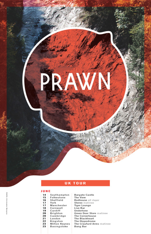 Prawn is just past the halfway point of their EU / UK tour — be sure to check out the remaining dates! 14.06.12 - UK - Southampton @ Bargate Castle 15.06.12 - UK - Folkestone @ The View 16.06.12 - UK - Sheffield @ Redhouse (all dayer) 17.06.12 - UK - York @ Stereo (matinee show) 17.06.12 - UK - Manchester @ Tiger Lounge 18.06.12 - UK - Cornwall @ Live Bar 19.06.12 - UK - Cardiff @ Undertone 20.06.12 - UK - Brighton @ Green Door Store (matinee show) 21.06.12 - UK - London @ The Black Heart 22.06.12 - UK - Kingston (London) @ The Hippodrome 23.06.12 - UK - Milton Keynes @ The Craufurd Arms 23.06.12 - UK - Basingstoke @ Bang Bar 24.06.12 - BE - Antwerpen @ Kavka 25.06.12 - FR - Paris @ La Miroiterie 26.06.12 - FR - Bordeaux @ Les lectures Al atoires 27.06.12 - FR - Toulouse @ Connexion 28.06.12 - SP - Barcelona @ Jazz Cava 29.06.12 - FR - Tarbes @ Celtic Pub