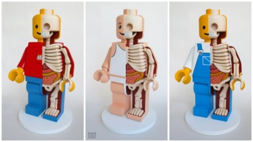"culturejunkie:  18"" LEGO Men Trio Dissection. Check out these pretty rad 18 inch LEGO figurines created by Moist Production designer, Jason Freeny in this first LEGO series. Follow the pictorial process here.  WANT."
