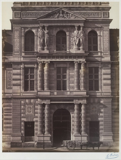 Edouard Baldus, Imperial Library of the Louvre, Paris, 1856-1857. Source: Metropolitan Museum of Art