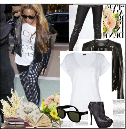 Get The Beyonce Style by queenceecee featuring v neck t shirts