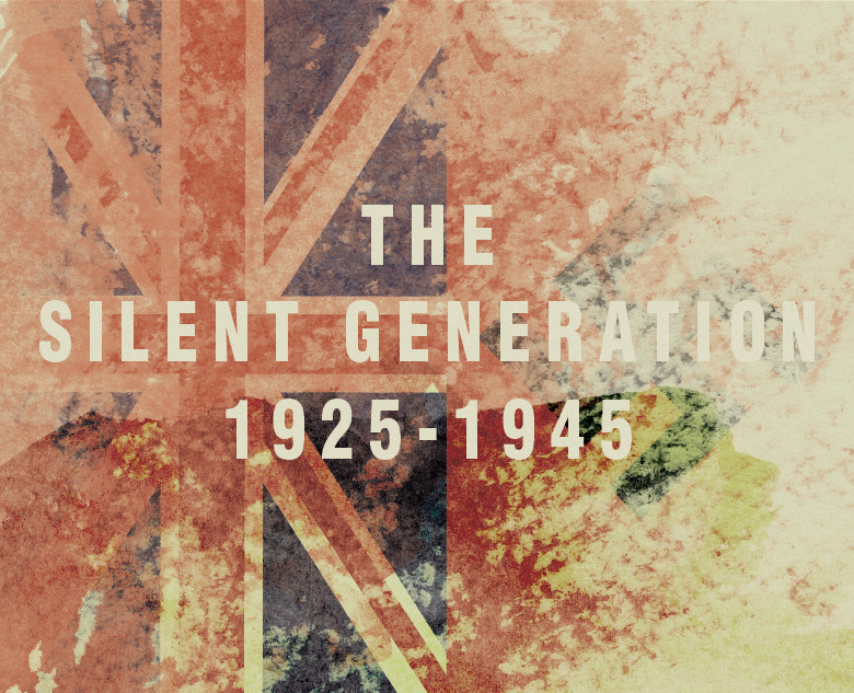 The Silent Generation  The Silent Generation born 1925 through 1945, is the generation that includes those who were too young to join the service during World War II. Many had fathers who served in World War I. Generally recognized as the children of the Great Depression, this event during their formative years had a profound impact on them.  Generations is a set of images illustrating the eight groups of generations in the Western world. Each image is illustrated in homage to one of the main artistic styles popular during the birth of that generation.