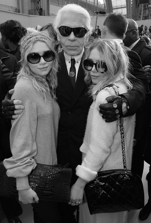 Karl Lagerfeld & Mary-Kate and Ashley Olsen
