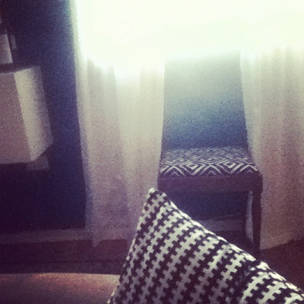 Slept on the couch. Up at 5am. Now what? (Taken with Instagram)